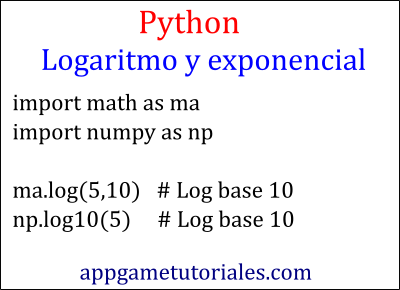 Python logaritmo base