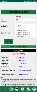 Calculo de motores eléctricos