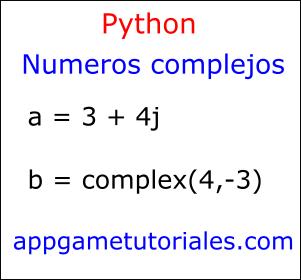 Números complejos python