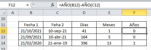 Sumar años Excel